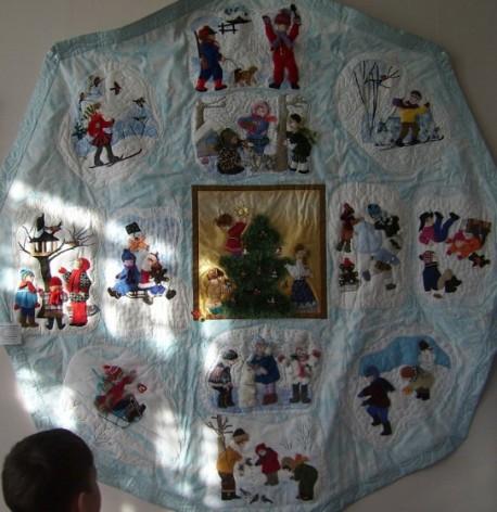 одеяло со множеством зарисовок