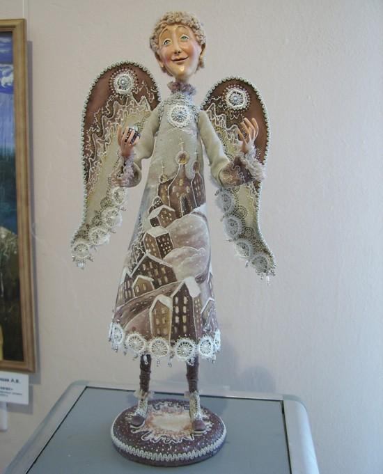 Авторская кукла ангел своими руками 72