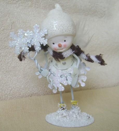 снеговик-ангелочек