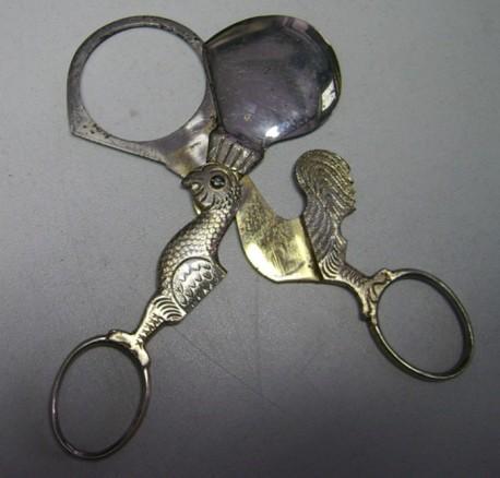 серебряные ножнички для яиц