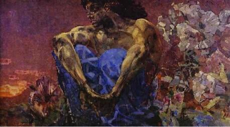 М. Врубель «Демон сидящий» 1890