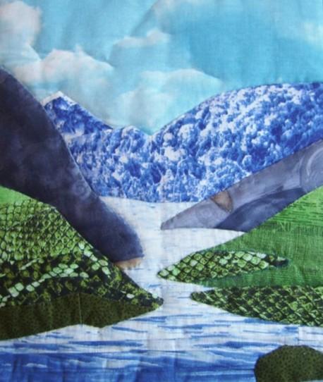 панно «Для нас близка дорога по Алтаю»