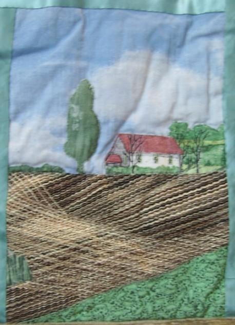 домик поле
