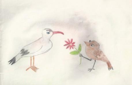 Воробей и чайка