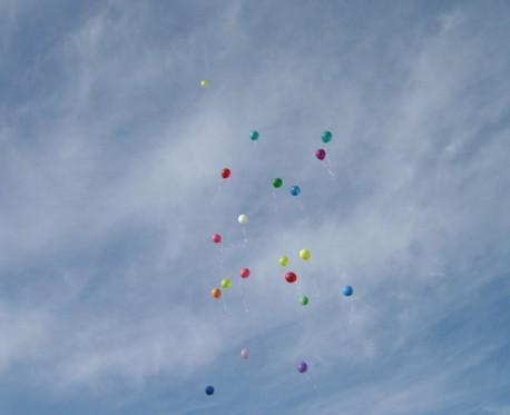 шарики с желаниями мы отпустили в небо