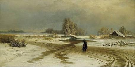 Ф. Васильев. Оттепель. 1871г.