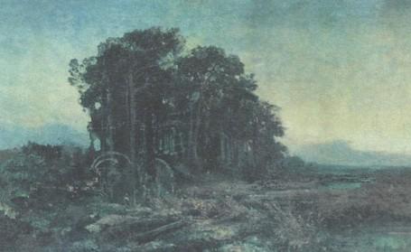 Ф. Васильев. Сосновая роща у болота