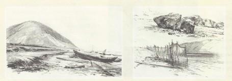 Ф. Васильев. Лодки на берегу Волги. 1870 г.