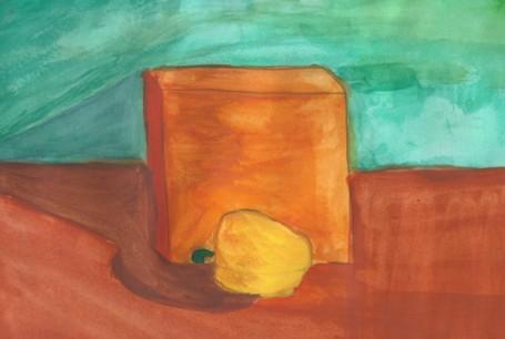 куб и желтый перец