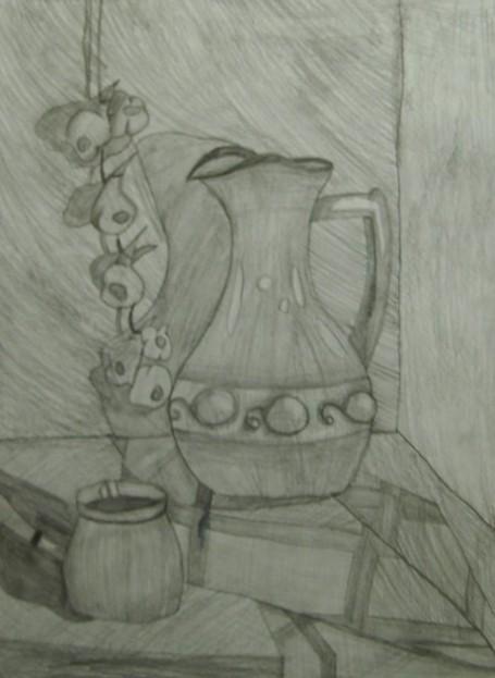 Кувшин, кофеварка и чеснок