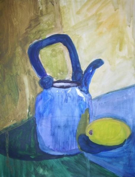 чайник с лимоном