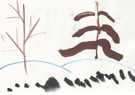Как звери ходят по лесу. Зыкова Полина. 2,5 года