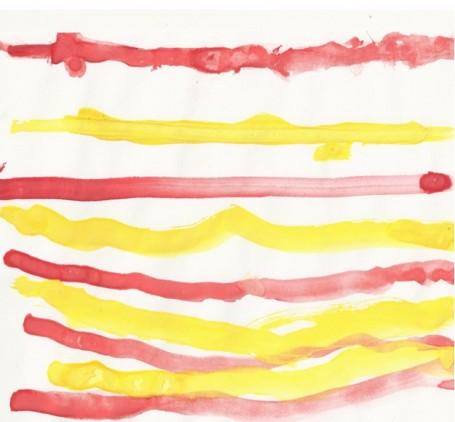 Красивый полосатый коврик. Зыкова Полина. 3 года