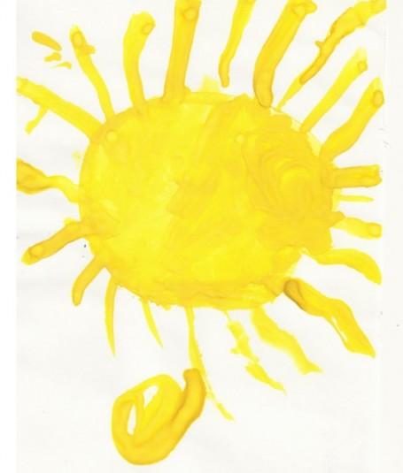 Весеннее солнце. Зыкова Полина. 2,5 года