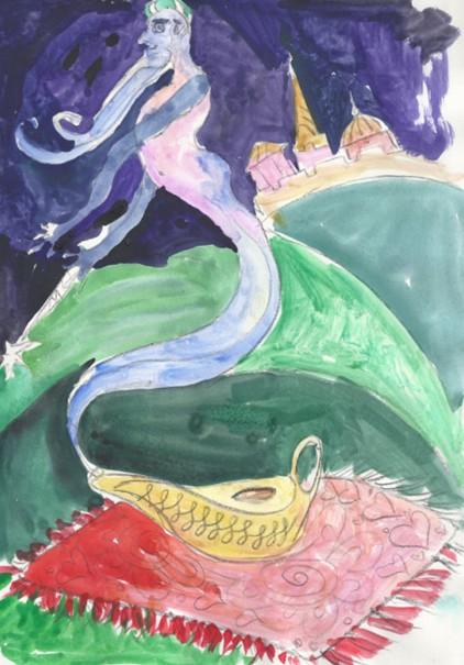 Волшебная лампа Аладдина. Джин