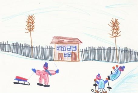в детском саду зимой