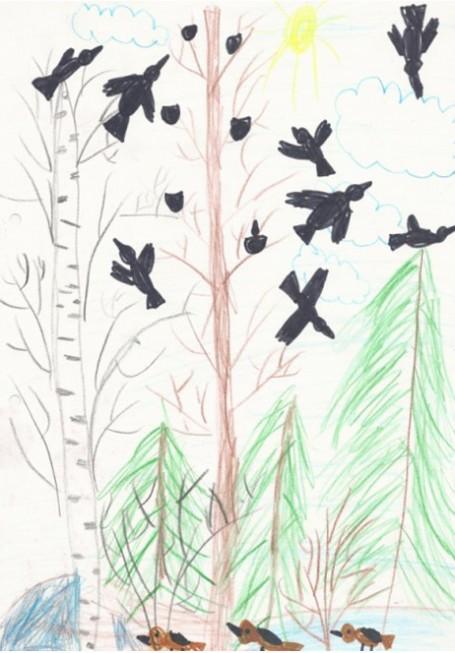 Птицы прилетели