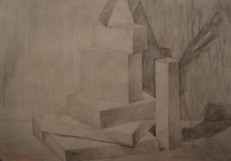 Натюрморт с геометрическими фигурами