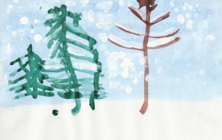 Рисунок «Зима в лесу»