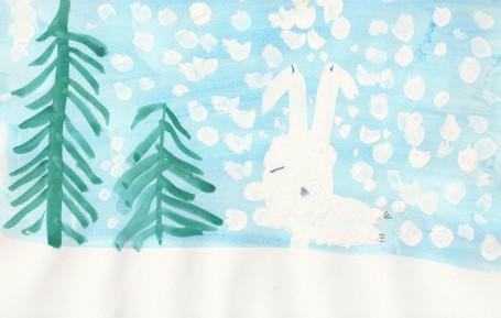 Рисунок «Спящий заяц»