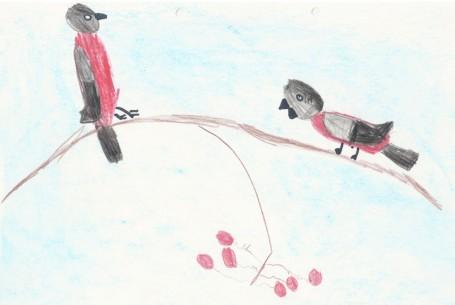 Рисунок «Снегири»