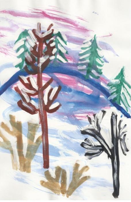 Рисунок «Буря в лесу»
