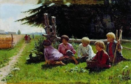 И. Прянишников. В засаде. 1881 г.